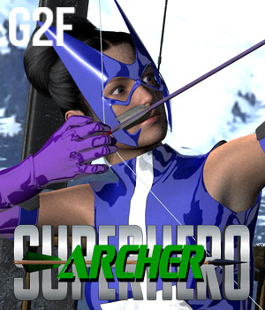 SuperHero Archer for G2F Volume 1 3D Figure Assets GriffinFX