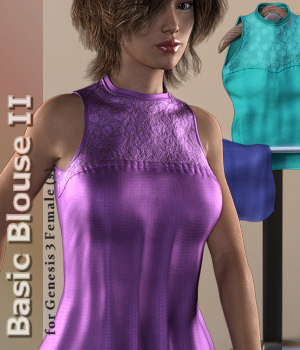 Basic Blouse 2 for Genesis 3 Female 3D Figure Assets Karth