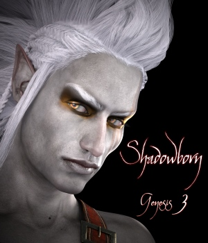 Shadowborn for Genesis 3 Male 3D Figure Assets RedzStudio