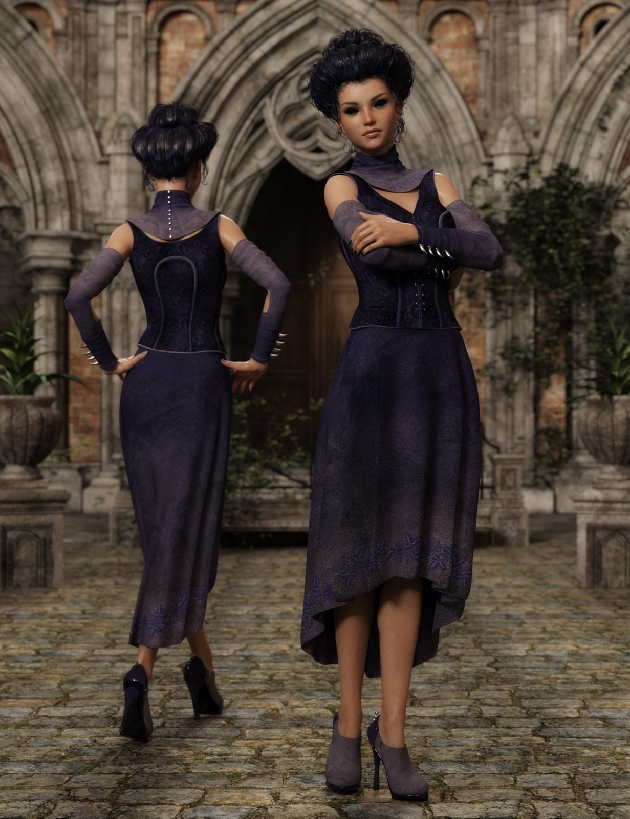 Violetta outfit for Genesis 3 female