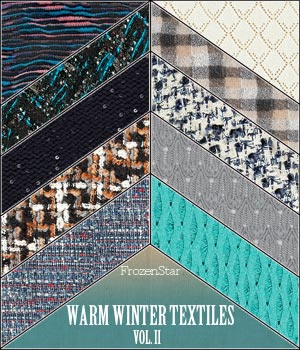 FS Warm Winter Textiles Vol.II 2D Graphics FrozenStar