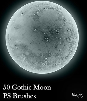 Gothic Moon PS Brushes 2D biala
