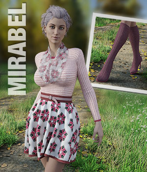 MIRABEL Textures for First Date Outfit 3D Figure Assets versluis