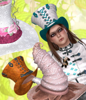 DA-Trendsetter for Katz Hatz by Rhiannon 3D Figure Essentials DarkAngelGrafics