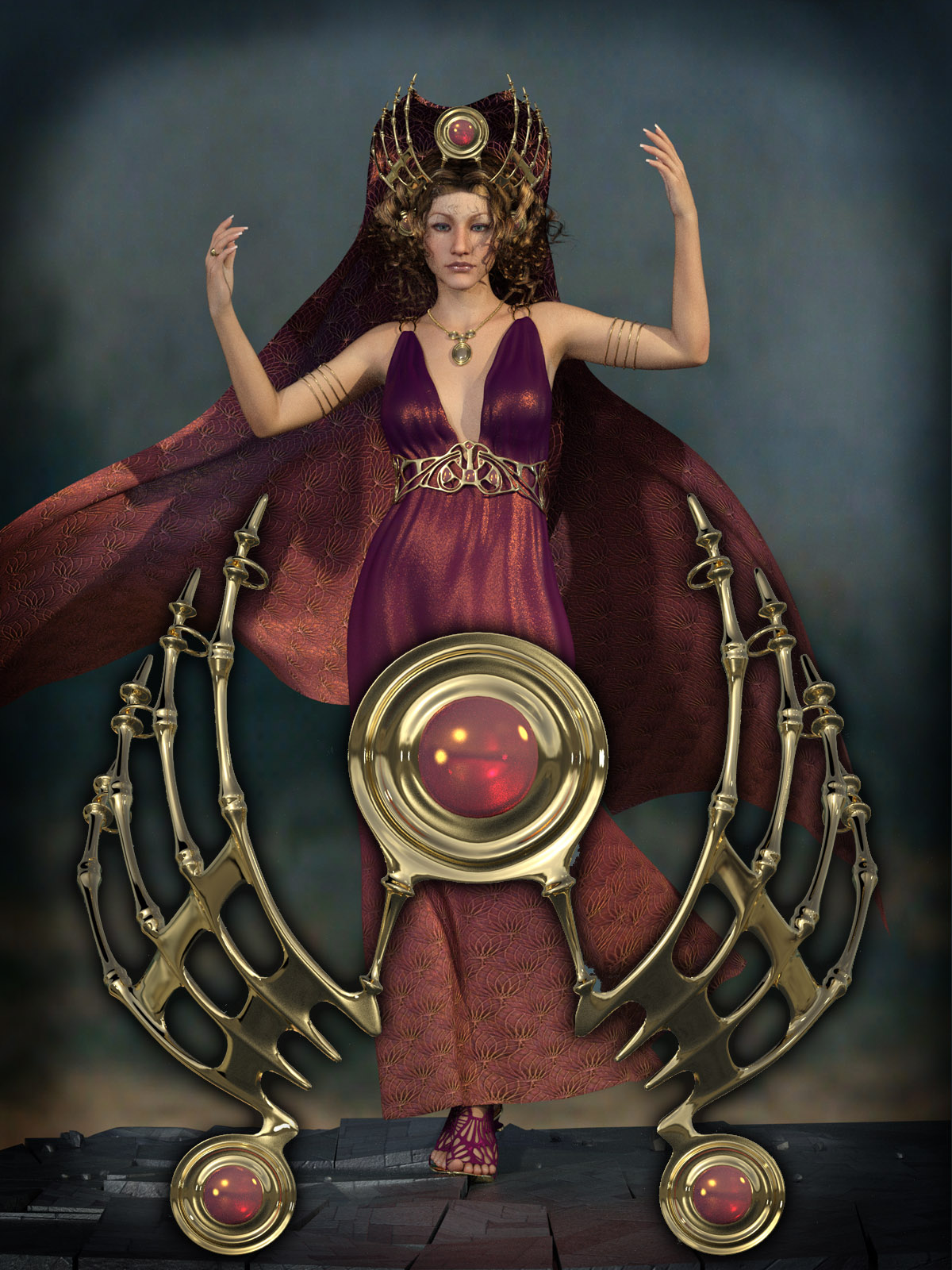 Drusilla Headdress for Genesis 3 Female