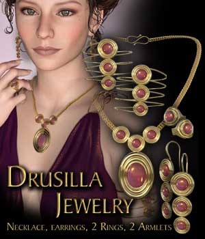 Drusilla Jewels for Genesis 3 Female  3D Figure Assets KarenGrant