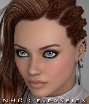 NHC Expansion : Hr-174 Hair 3D Figure Assets P3D-Art