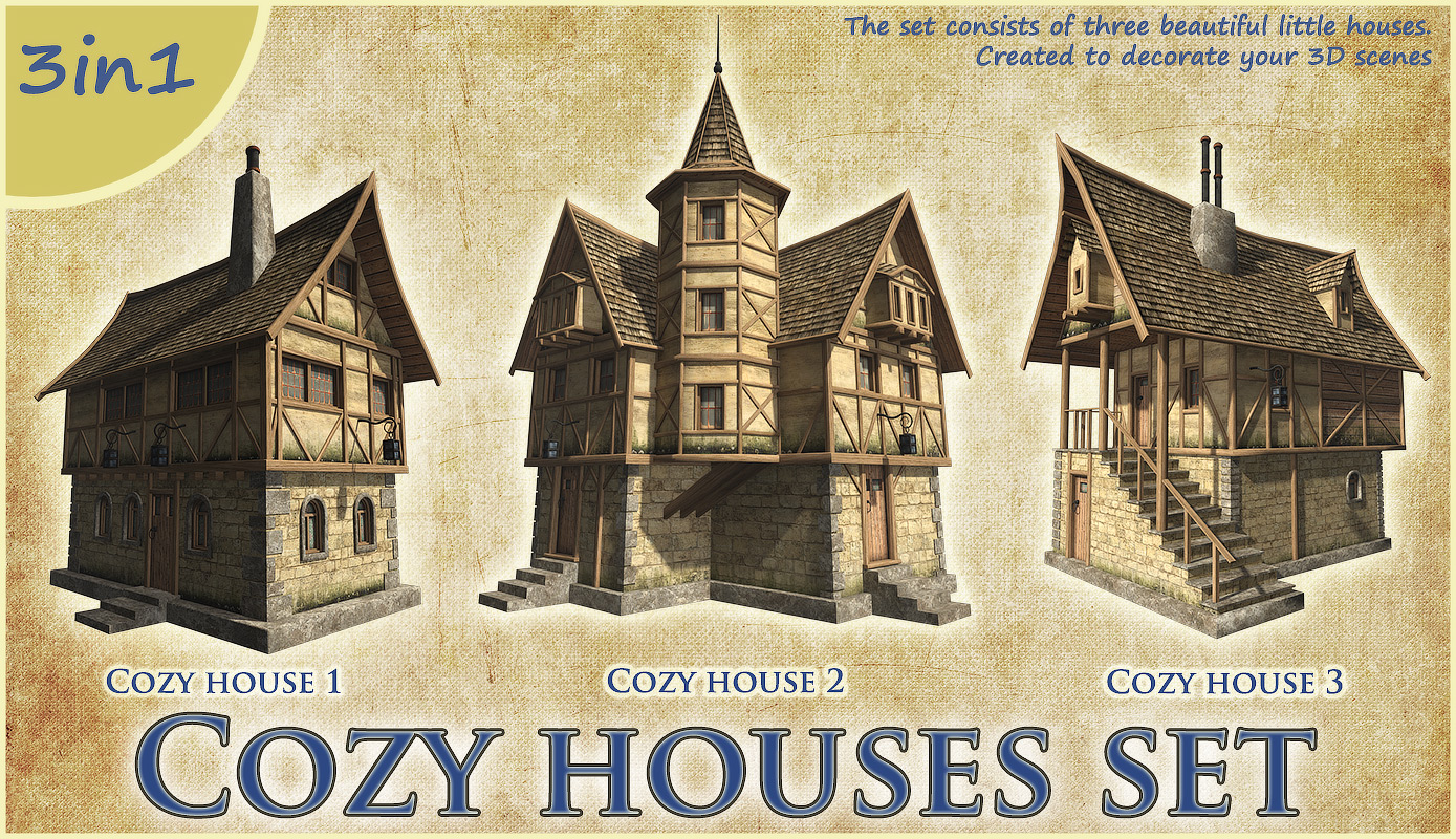Cozy houses set