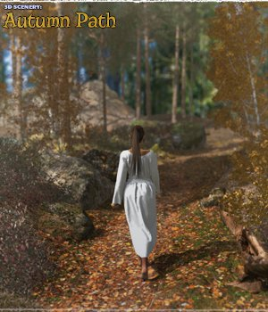 3D Scenery: Autumn Path - Extended License 3D Models Extended Licenses ShaaraMuse3D