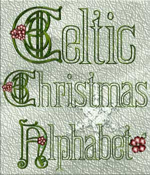 Harvest Moons Celtic Christmas Alphabet 2D Graphics Merchant Resources MOONWOLFII