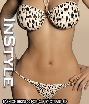 InStyle - Fashion Bikini 02 for G3F 3D Figure Essentials -Valkyrie-