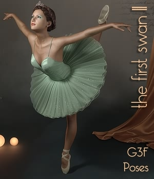 First Swan Two- Poses for the Genesis 3 Female by fabiana