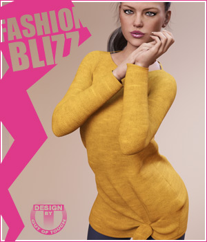 Fashion Blizz: Boat Neck Sweater for Genesis 3 Female(s) 3D Figure Assets outoftouch