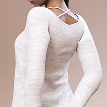 Fashion Blizz: Boat Neck Sweater for Genesis 3 Female(s) image 1