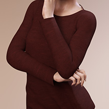 Fashion Blizz: Boat Neck Sweater for Genesis 3 Female(s) image 2
