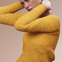 Fashion Blizz: Boat Neck Sweater for Genesis 3 Female(s) image 3