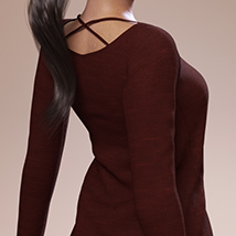 Fashion Blizz: Boat Neck Sweater for Genesis 3 Female(s) image 4