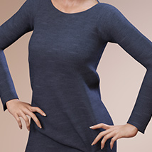 Fashion Blizz: Boat Neck Sweater for Genesis 3 Female(s) image 5