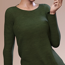 Fashion Blizz: Boat Neck Sweater for Genesis 3 Female(s) image 7