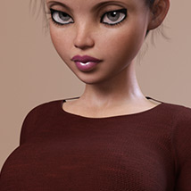 Fashion Blizz: Boat Neck Sweater for Genesis 3 Female(s) image 8