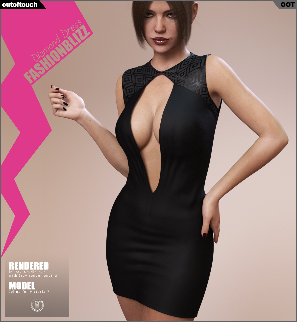 Fashion Blizz: Diamond Dress for Genesis 3 Female(s)