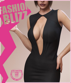 Fashion Blizz: Diamond Dress for Genesis 3 Female(s) 3D Figure Assets outoftouch