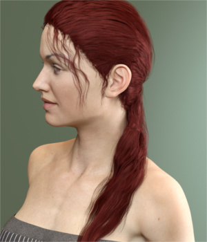 Hana Hair for Genesis 3 Female(s)  3D Figure Essentials Toyen