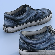 Canvas Shoes For G3F image 1