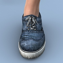 Canvas Shoes For G3F image 7
