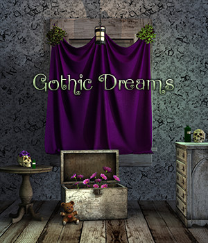 FB Gothic Dreams Backgrounds And Bonus 2D Graphics fictionalbookshelf