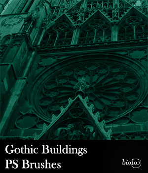 Gothic Buildings PS Brushes 2D Graphics biala