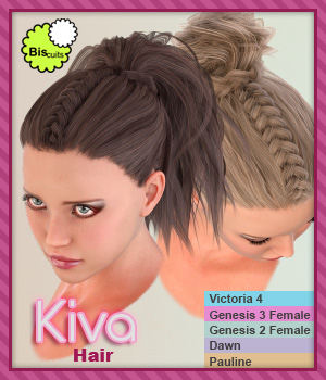 Biscuits Kiva Hair 3D Figure Assets Biscuits
