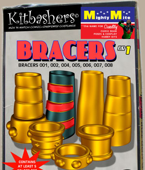 Kitbashers - Bracers v01 : By MightyMite for G3M 3D Figure Assets MightyMite