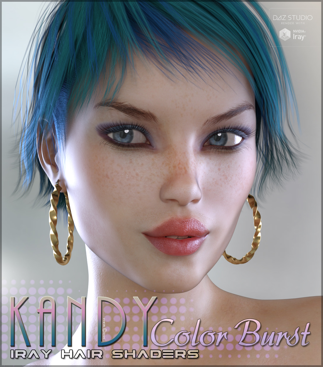 SV's Kandy Iray Color Burst Hair Shaders