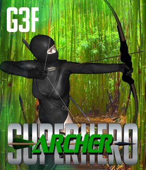 SuperHero Archer for G3F Volume 1 3D Figure Assets GriffinFX