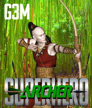 SuperHero Archer for G3M Volume 1 3D Figure Assets GriffinFX