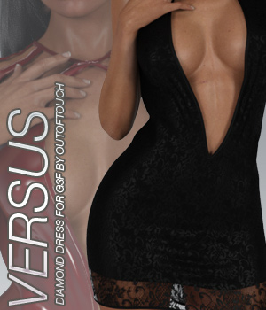 VERSUS - Fashion Blizz: Diamond Dress for Genesis 3 Female(s) 3D Figure Essentials Anagord