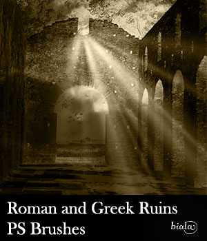 Roman and Greek Ruins PS Brushes 2D Graphics biala