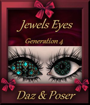 Jewels : Eyes Pack 01 for Daz and Poser 3D Figure Essentials farfadelf