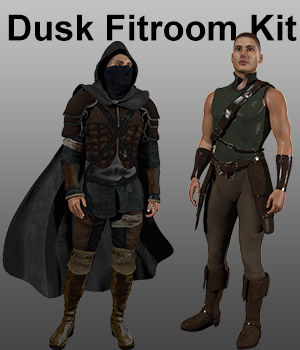 Dusk Fitroom Kit 3D Figure Assets Tutorials : Learn 3D Lyrra