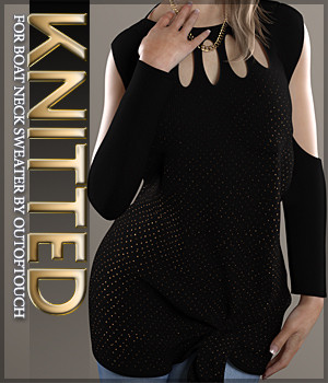 Knitted for Boat Neck Sweater 3D Figure Essentials Sveva