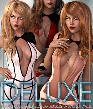Deluxe for Fashion Blizz: Diamond Dress 3D Figure Assets ShanasSoulmate