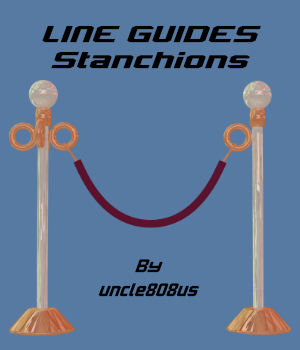 LineGuides_Stanchions FBX OBJ 3D Models uncle808us