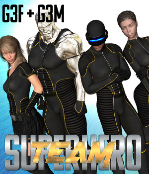 SuperHero Team for G3F & G3M Volume 1 3D Figure Assets GriffinFX