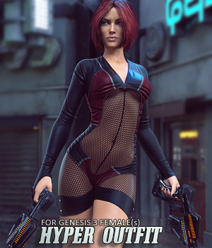 Hyper Outfit for Genesis 3 Females 3D Figure Assets lilflame
