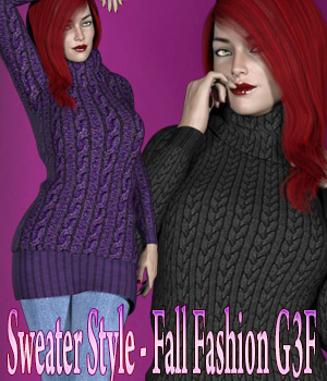 Sweater Style - Fall Fashion G3F 3D Figure Assets kaleya