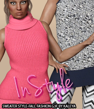 InStyle - Sweater Style-Fall Fashion G3F 3D Figure Assets -Valkyrie-