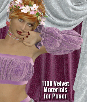 Materialistics 2-Velvets 3D Figure Essentials Lully