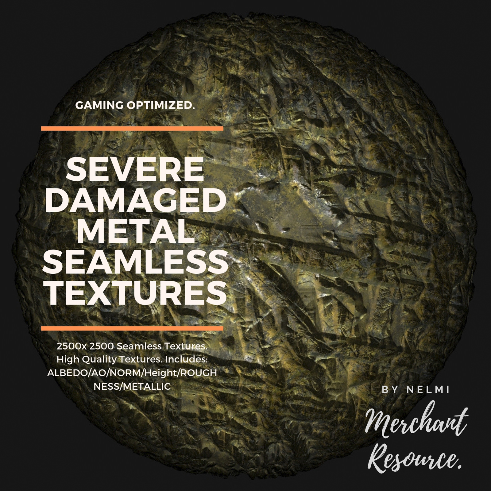 15 Seamless Severe Damaged Metal PBR Textures and Texture Maps