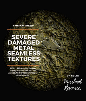 15 Seamless Severe Damaged Metal PBR Textures and Texture Maps 2D Graphics nelmi